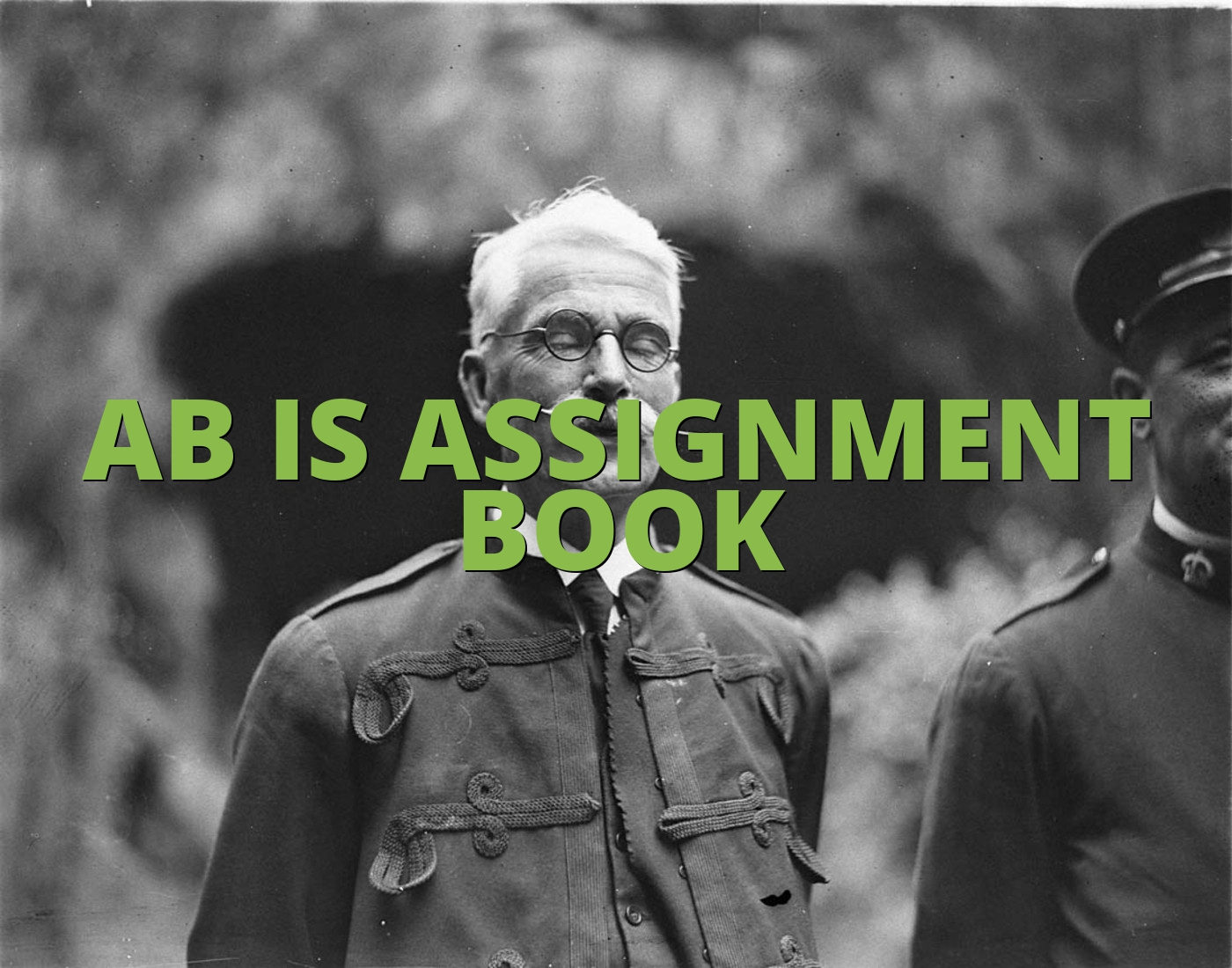 AB IS ASSIGNMENT BOOK
