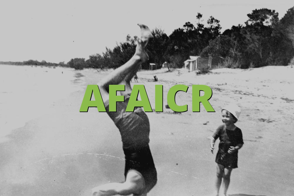 AFAICR