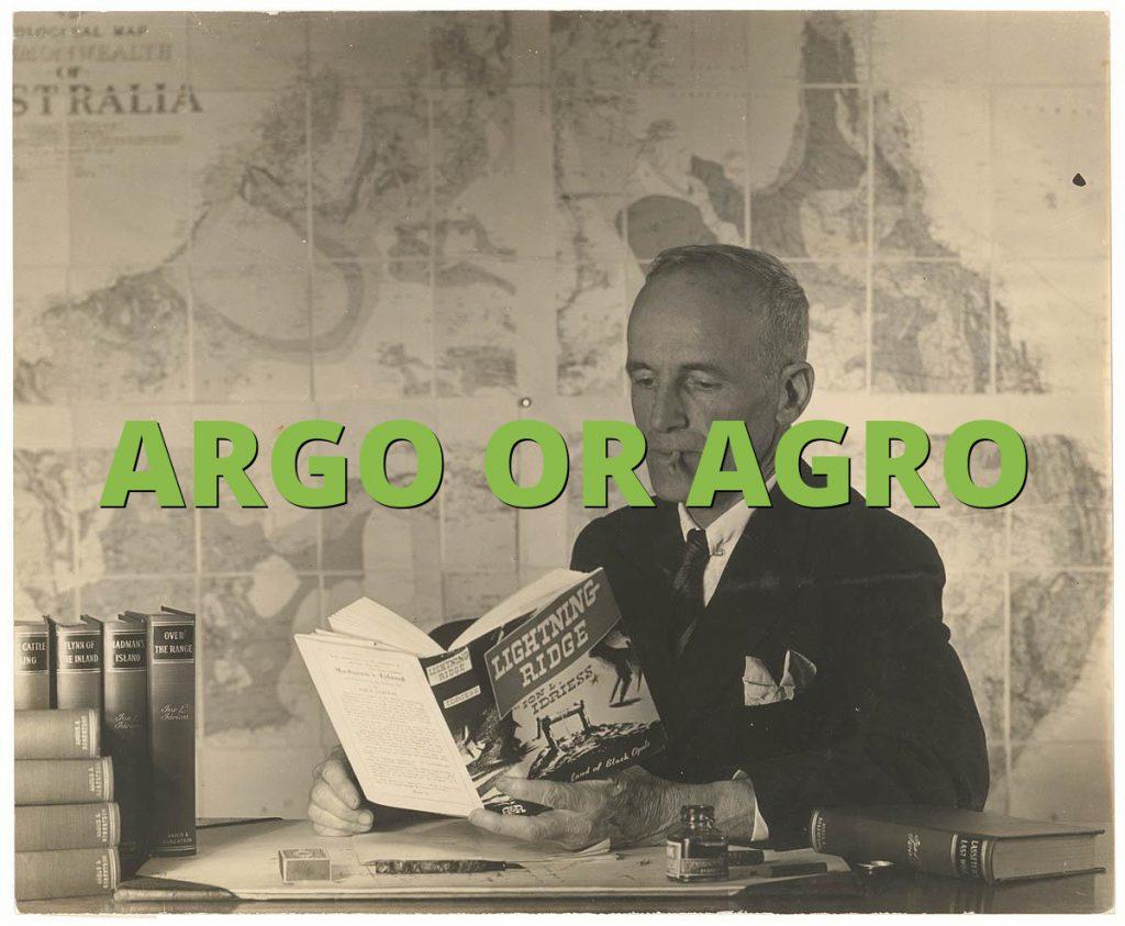 ARGO OR AGRO