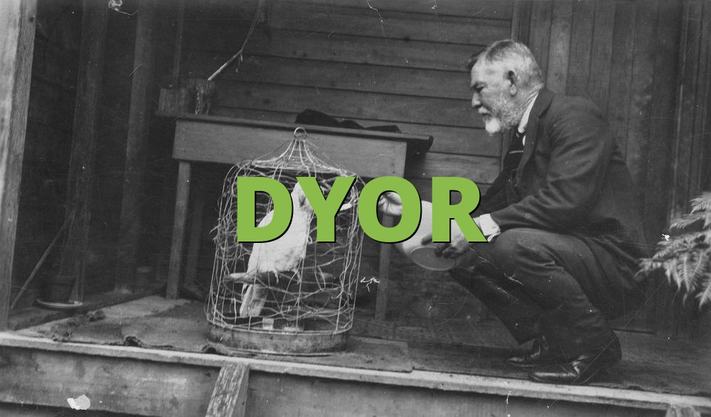 DYOR - Do Your Own Research