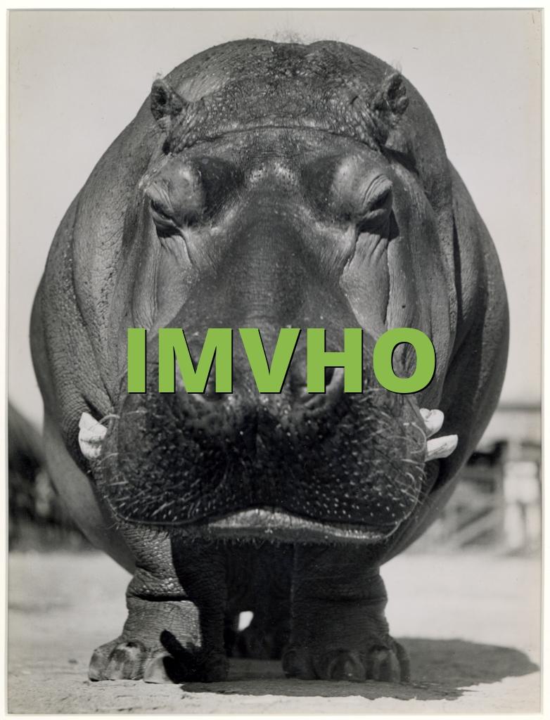 IMVHO